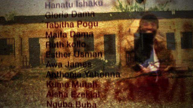 Graphic showing kidnapped girls' names