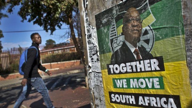 A poster for Zuma and the ANC