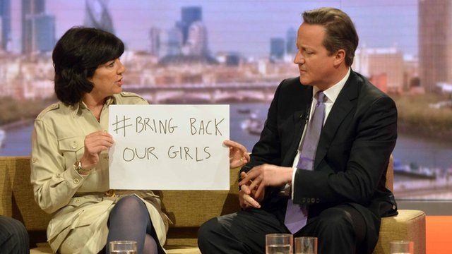 Christiane Amanpour and David Cameron