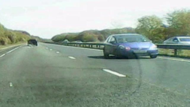 Tony Bennett filmed the car driving on the wrong side of the A47