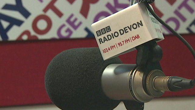 Radio Devon studio microphone
