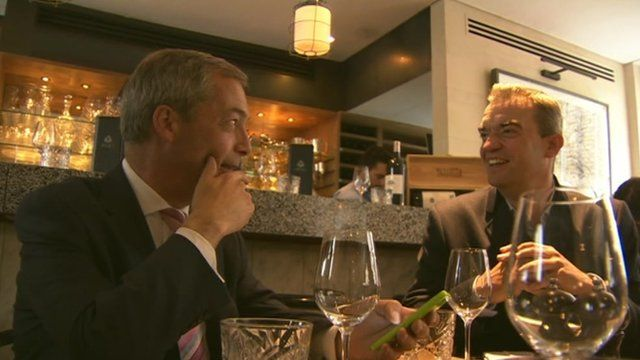 Nigel Farage and Giles Dilnot