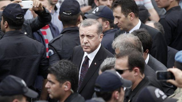Recep Tayip Erdogan at Soma mine