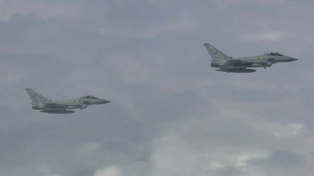 Two Typhoons on excercise