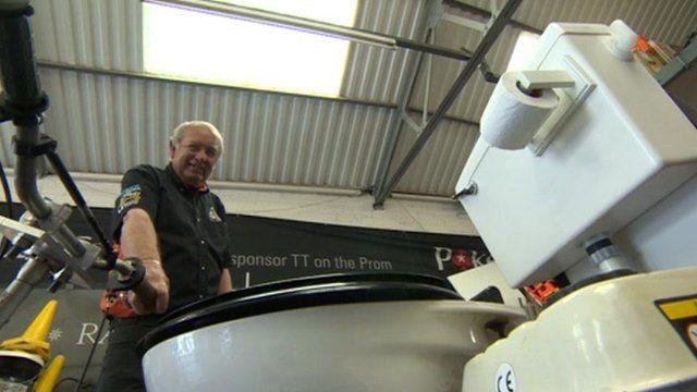 Trevor Duckworth and his motorised toilet