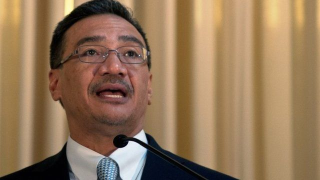 Malaysian Minister of Defence and Acting Transport Minister Hishammuddin Hussein