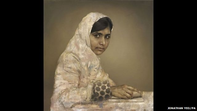 Malala Yousafzai portrait by Jonathan Yeo sells for $82,000