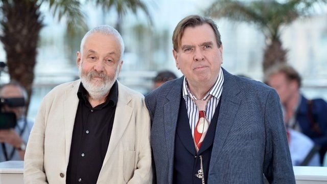 Mike Leigh and Timothy Spall