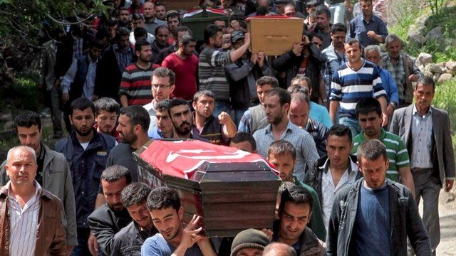 People carrying a coffin in Soma