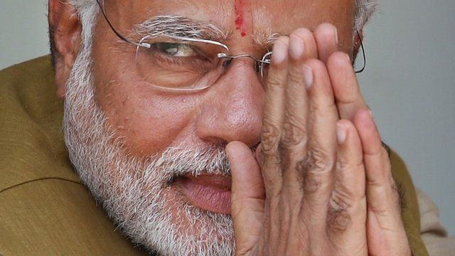 Opposition Bharatiya Janata Party (BJP) leader and India's next prime minister Narendra Modi