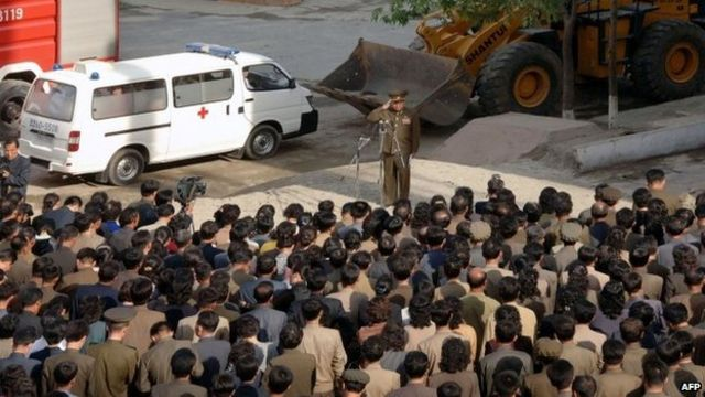 North Korea: Apology over Pyongyang building collapse