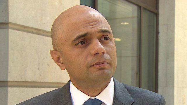 Culture Minister Sajid Javid