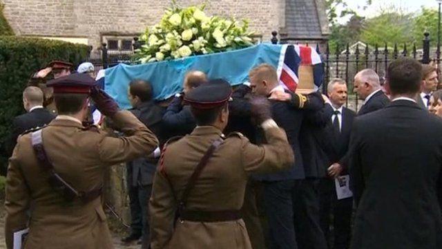 Capt Clarke's coffin