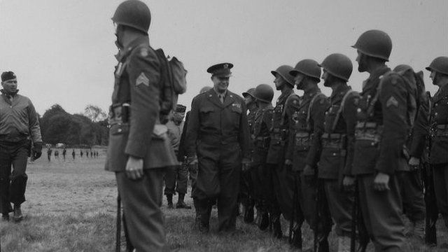 General Eisenhower inspecting the soldiers stationed in County Fermanagh
