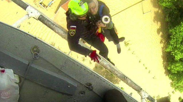 Elderly woman rescued
