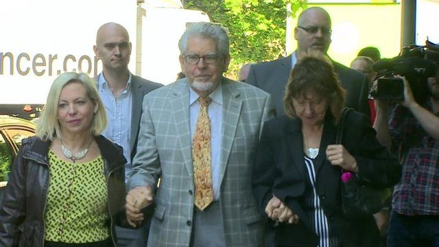 Rolf Harris and family