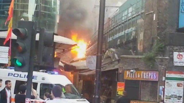 Camden Stables Market fire