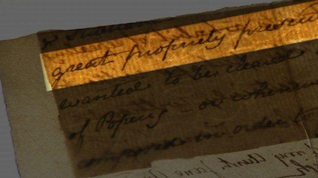 Jane Austen handwritten note