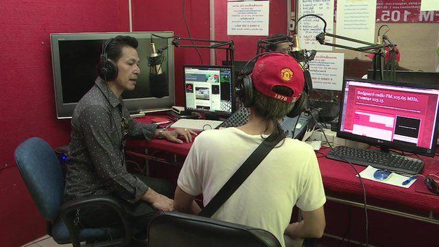 Illegal local radio station operating near Bangkok