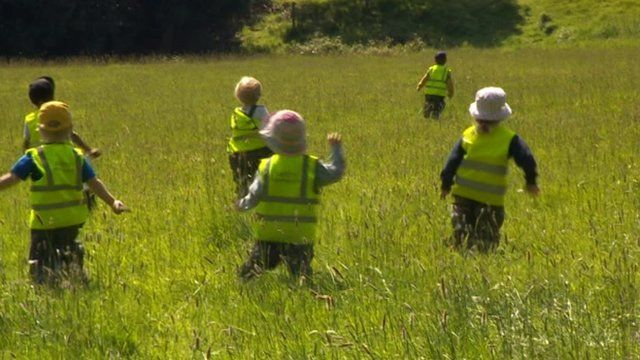 Children from Buttercups Early Years Centre
