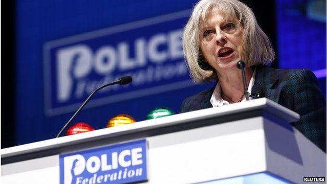 Theresa May at Police Federation conference