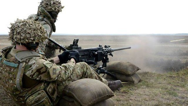 Queen's Dragoon Guards on exercise