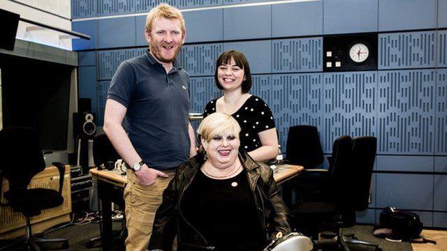 Rob Crossan, Barbara Lisicki, Kate Monaghan in the studio