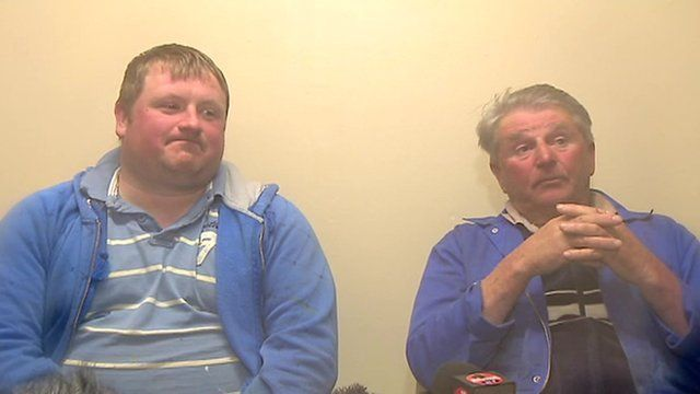 David Irvine and Jim Reid were rescued after 48 hours at sea