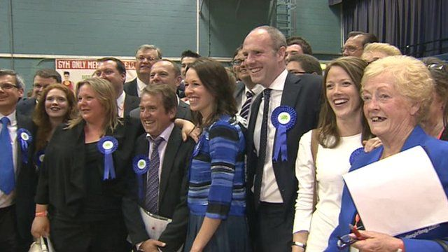 Conservatives in Swindon celebrate the election result