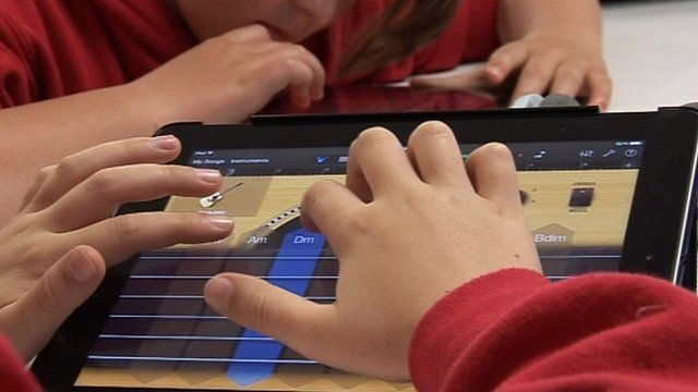Child on iPad