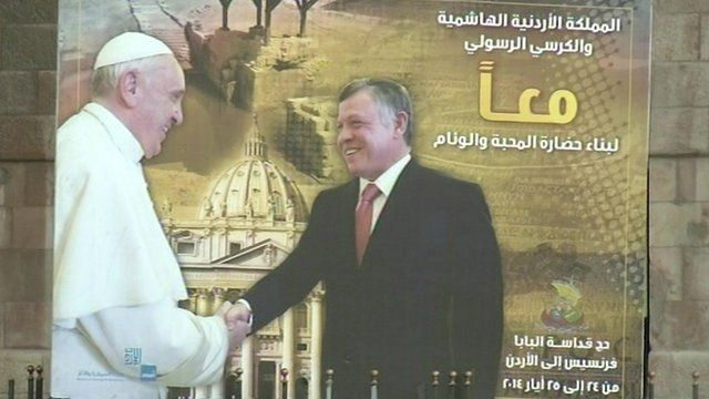 A poster for the Pope's visit