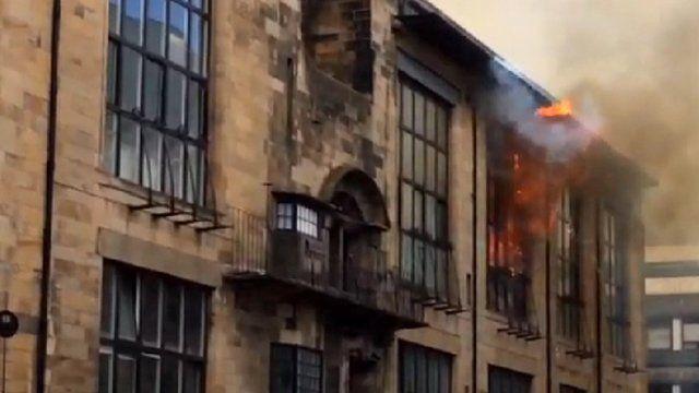 Charles Rennie Mackintosh fire
