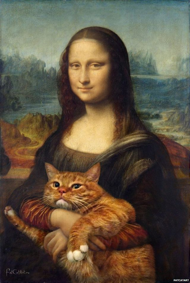 The paintings 'made better with cats'