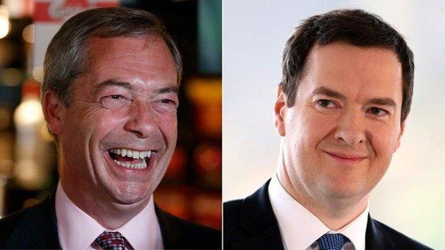 Nigel Farage and George Osborne