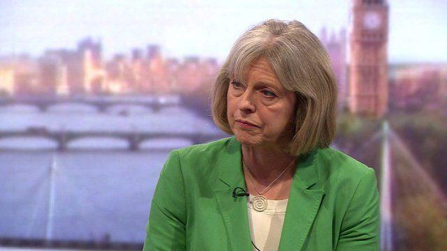 The Home Secretary, Theresa May