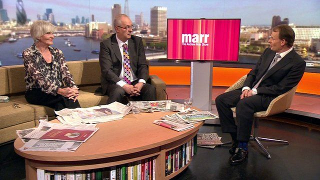 Sheila Hancock and Iain Dale with the BBC's Andrew Marr