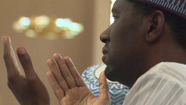 A man praying