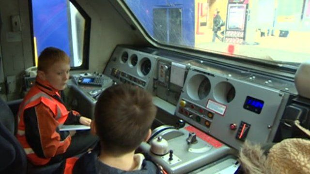 Children on train safety pilot project