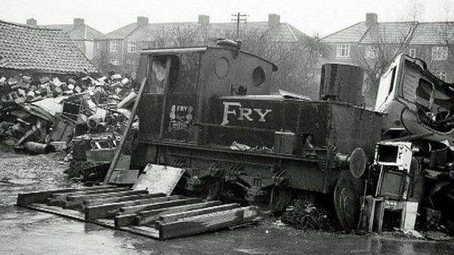 A steam engine used at Fry's Somerdale chocolate factory at Keynsham, near Bristol