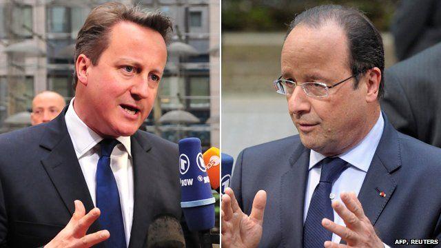 David Cameron and Francois Hollande