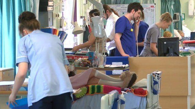Ward at Frenchay Hospital