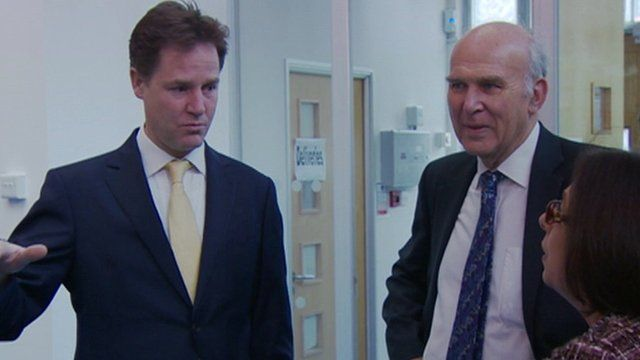 Nick Clegg and Vince Cable