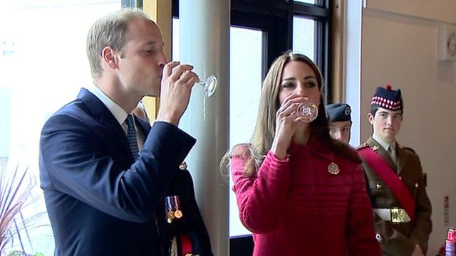 Royal visit: William and Kate try whisky tasting