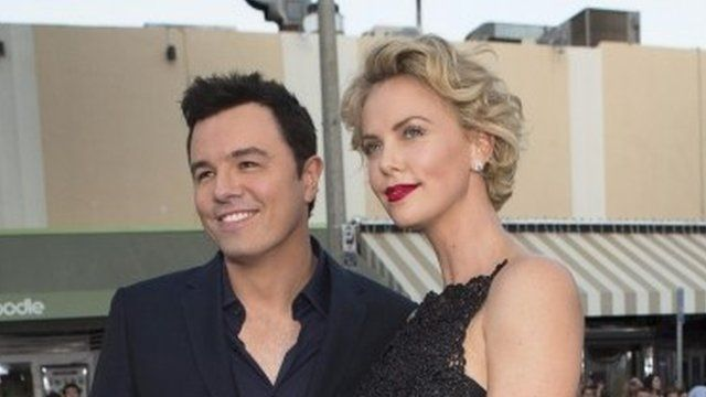 Seth MacFarlane and Charlize Theron at the US premiere of A Million Ways To Die In The West