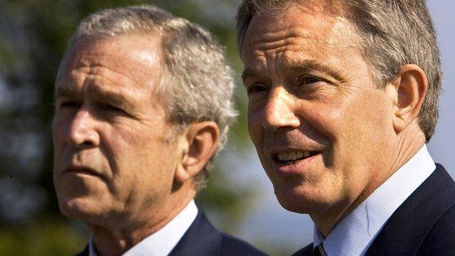 George W Bush and Tony Blair