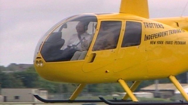 Trotters Independent Traders helicopter