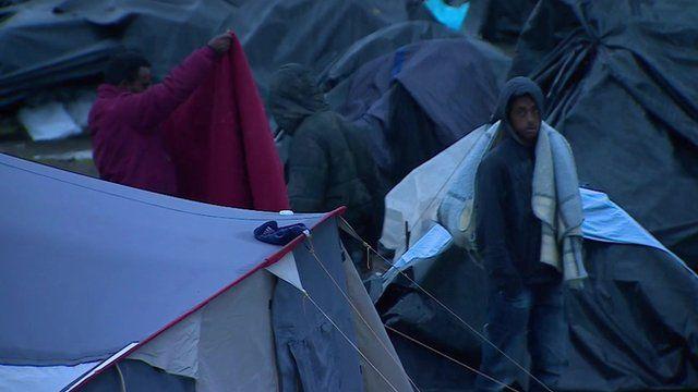 A migrant camp