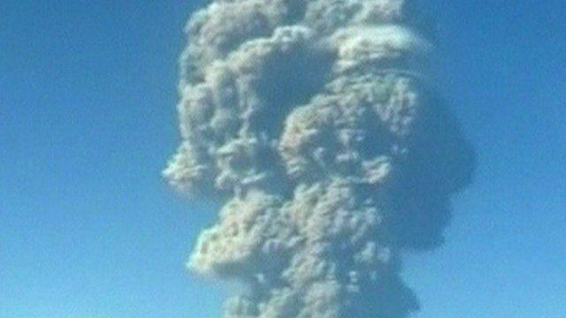 A cloud of ash