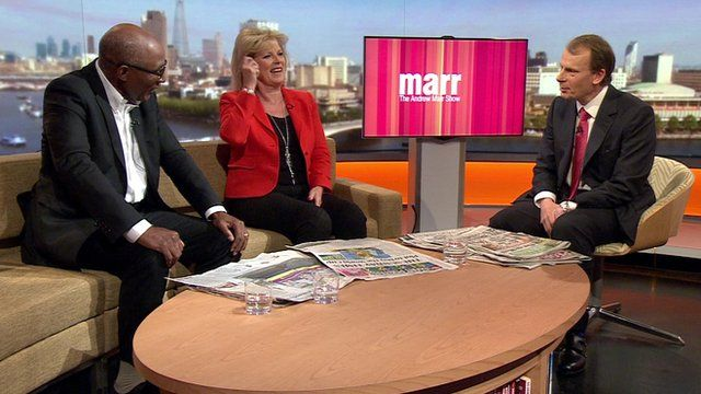 Anna Soubry MP and Trevor Phillips with Andrew Marr