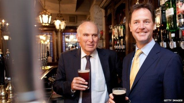 Cable and Clegg in pub